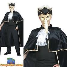 venetian costume masquerade venetian cape one size mens fancy