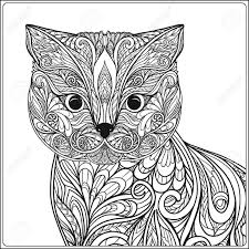 tabby cat coloring pages decorative cat vector illustration coloring book coloring