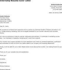 cover letter for summer internship sample internship cover