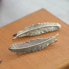 hair grips silver feather hair grips by nell notonthehighstreet