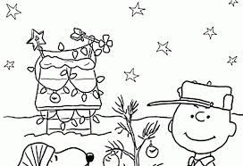 charlie brown christmas printable coloring sheets coloring pages