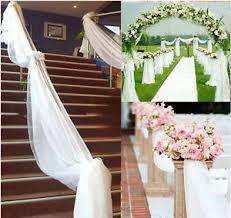 10m top table chair swags sheer organza fabric wedding