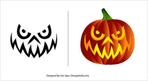 Free Scary Halloween Pumpkin Stencils - 10 free halloween scary pumpkin carving patterns u0026 stencils