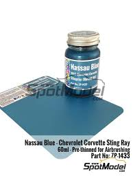 zero paints paint nassau blue for chevrolet corvette stingray
