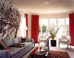 decoration terrific contemporary red wall room ideas with