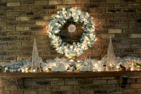 Blue White And Silver Christmas Tree - christmas mantel decorating ideas amazing christmas ideas