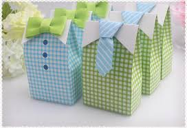 gift box for tie blue green check bow tie candy chocolate gift box for wedding