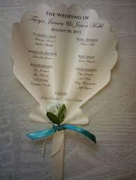 Making Wedding Programs Flower Border Fan Wedding Program Fan By Designsbyalisamarie