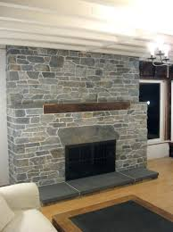 covering a stone fireplace with tile wood ideas for opening my