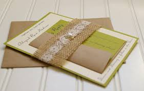 Burlap And Lace Wedding Invitations Burlap And Lace Wedding Invitations Unique Handmade Pearl