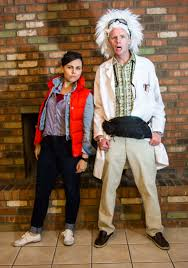homemade couple halloween costume ideas annual couple u0027s halloween party 2014 doc brown marty mcfly and