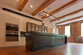 wood flooring kitchen loft in noho york city