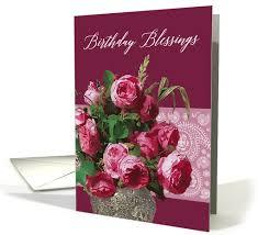 birthday blessings scripture numbers 6 24 pink roses painting