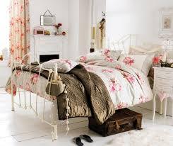 white vintage bedroom black plush rug white metal queen bed white