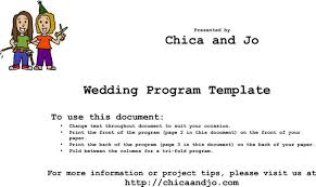 folded wedding program template wedding program templates free premium templates