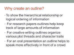how to make research paper outline why and how to create a useful outline ppt video online download