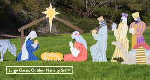 nativity outdoor smashing outdoor nativity sets along with scale colored seated camel
