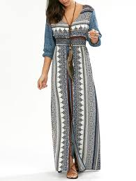 bohemian dresses chic maxi lace and long sleeve boho style