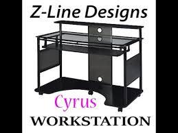 Z Line Designs Computer Desk Z Line Designs Cyrus Workstation Computer Desk Youtube