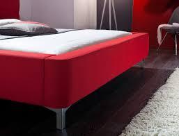 Schlafzimmer Bett 160x200 Polsterbett Cloude Bett 160x200 Cm Rot Mit Lattenrost Matratze