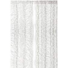 White Ruffle Curtain Panels White Ruffled Luxury 96 Inch Curtain Panel Free Shipping Today