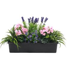 mixed flower window box artificial flower trough blooming