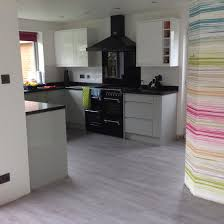 kitchen floor finally done moduleo classic oak love the new white kitchen floor finally done moduleo classic oak love the new white pewter high gloss units