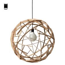 Sphere Ceiling Light 40 50cm Wood Globe Sphere Pendant Light Fixture Korean