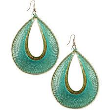 threaded earrings tear drop thread earrings forever 21 polyvore