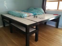 Diy Bed Desk Bed Desk 61 Finished Jpg