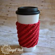 danyel pink designs free crochet pattern crooked coffee cozy