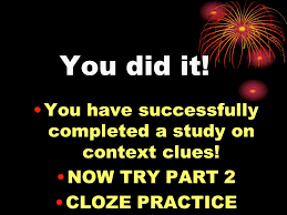 context clues tips for the reader u0026 cloze practice ppt video