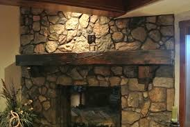 image of custom rustic mantels wooden solid