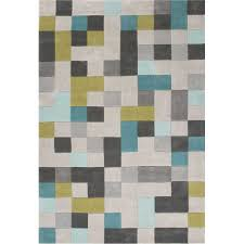 Jaipur Area Rugs Jaipur Rug1 Fusion Tufted Durable Polyester Gray Blue Area