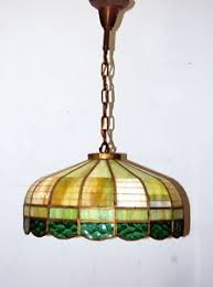 Rewire Light Fixture Antique 1930s Stained Glass Hanging Light Fixture Vintage