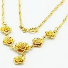 golden necklace women images Bridal wedding jewelry necklace thousands of gold high grade jpg