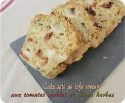 cuisiner le tofu soyeux cake salé au tofu soyeux tomates séchées fines herbes recette