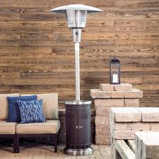 87 Patio Heater by Shop Garden Treasures 47 000 Btu Mocha Steel Floorstanding Liquid