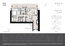 residences 1 bedroom apartment type a floor plan