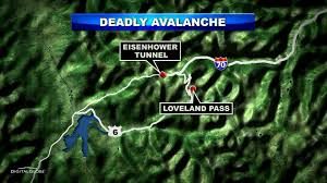 Loveland Colorado Map by Avalanche Danger High In Colorado After Slide Kills 5 Cbs Denver