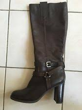 womens brown leather boots size 11 bandolino aisel womens brown leather knee high fashion boots