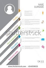 Resume Template Design Resume Cv Template Design Tabs Ribbons Stock Vector 367051190