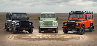 tan range rover three limited edition land rover defenders mark end of production