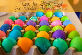 blown easter eggs how to eggs for easter decorations hubpages