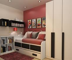 exciting white boys room with loft bed and decorative teen bedroom