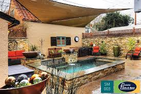 a complete backyard makeover included a modern small pool with a