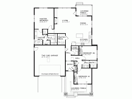 eplans bungalow house plan craftsman single story open floor plan
