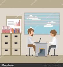 bureau recrutement une entrevue avec un employé du bureau emploi recrutement concept