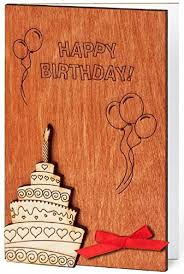 amazon com handmade sustainable wooden happy birthday card