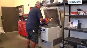 heated parts washer cabinet cuda parts washer authorized stihl dealer testimonial youtube